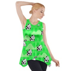 Animals Cow Home Sweet Tree Green Side Drop Tank Tunic