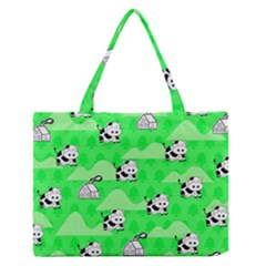 Animals Cow Home Sweet Tree Green Medium Zipper Tote Bag by Alisyart