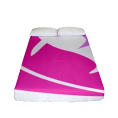 Bird Feathers Star Pink Fitted Sheet (full/ Double Size) by Alisyart