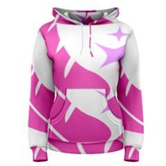 Bird Feathers Star Pink Women s Pullover Hoodie