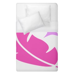 Bird Feathers Star Pink Duvet Cover (single Size) by Alisyart
