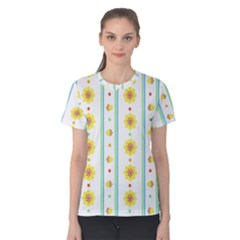 Beans Flower Floral Yellow Women s Cotton Tee by Alisyart
