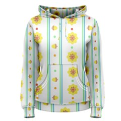 Beans Flower Floral Yellow Women s Pullover Hoodie