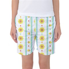 Beans Flower Floral Yellow Women s Basketball Shorts by Alisyart