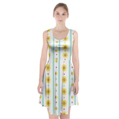 Beans Flower Floral Yellow Racerback Midi Dress