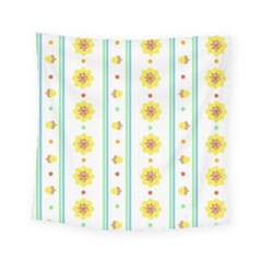 Beans Flower Floral Yellow Square Tapestry (small) by Alisyart