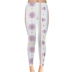 Beans Flower Floral Purple Leggings  by Alisyart