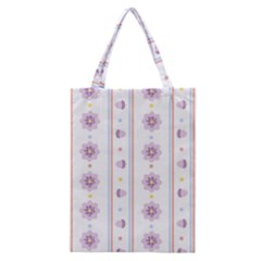 Beans Flower Floral Purple Classic Tote Bag