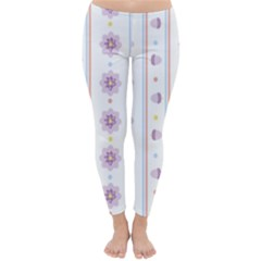 Beans Flower Floral Purple Classic Winter Leggings