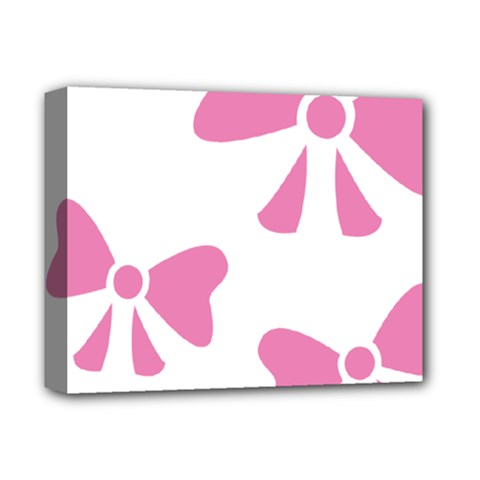 Bow Ties Pink Deluxe Canvas 14  X 11  by Alisyart
