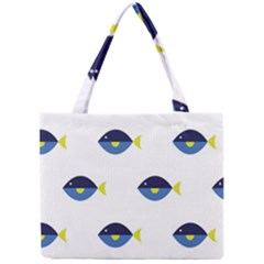 Blue Fish Swim Yellow Sea Beach Mini Tote Bag by Alisyart