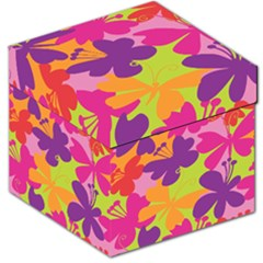 Butterfly Animals Rainbow Color Purple Pink Green Yellow Storage Stool 12