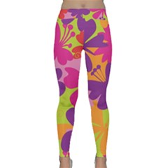 Butterfly Animals Rainbow Color Purple Pink Green Yellow Classic Yoga Leggings