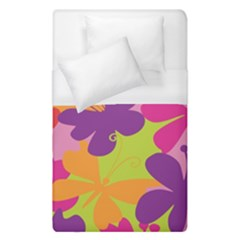Butterfly Animals Rainbow Color Purple Pink Green Yellow Duvet Cover (single Size)