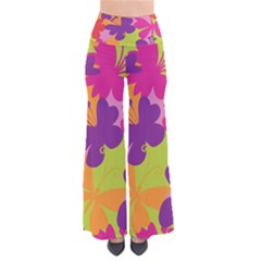 Butterfly Animals Rainbow Color Purple Pink Green Yellow Pants by Alisyart