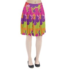 Butterfly Animals Rainbow Color Purple Pink Green Yellow Pleated Skirt