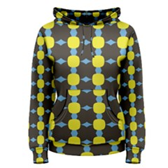 Blue Black Yellow Plaid Star Wave Chevron Women s Pullover Hoodie