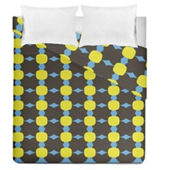 Blue Black Yellow Plaid Star Wave Chevron Duvet Cover Double Side (queen Size) by Alisyart