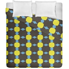 Blue Black Yellow Plaid Star Wave Chevron Duvet Cover Double Side (california King Size) by Alisyart