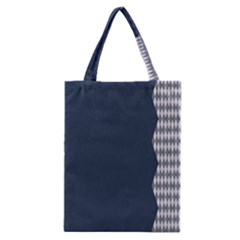 Argyle Triangle Plaid Blue Grey Classic Tote Bag