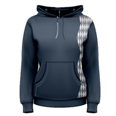 Argyle Triangle Plaid Blue Grey Women s Pullover Hoodie