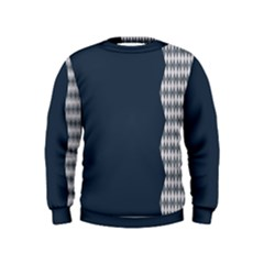 Argyle Triangle Plaid Blue Grey Kids  Sweatshirt