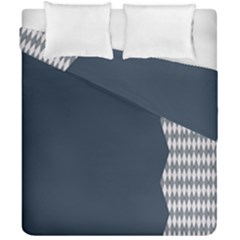 Argyle Triangle Plaid Blue Grey Duvet Cover Double Side (california King Size) by Alisyart