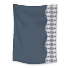 Argyle Triangle Plaid Blue Grey Medium Tapestry by Alisyart