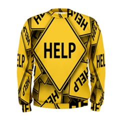 Caution Road Sign Help Cross Yellow Men s Sweatshirt by Alisyart