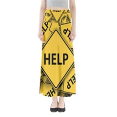 Caution Road Sign Help Cross Yellow Maxi Skirts by Alisyart