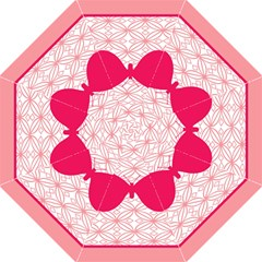 Butterfly Animals Pink Plaid Triangle Circle Flower Straight Umbrellas by Alisyart