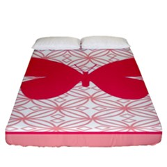 Butterfly Animals Pink Plaid Triangle Circle Flower Fitted Sheet (california King Size) by Alisyart