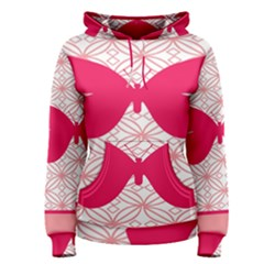 Butterfly Animals Pink Plaid Triangle Circle Flower Women s Pullover Hoodie