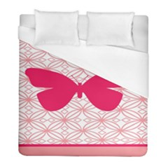 Butterfly Animals Pink Plaid Triangle Circle Flower Duvet Cover (full/ Double Size) by Alisyart