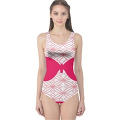 Butterfly Animals Pink Plaid Triangle Circle Flower One Piece Swimsuit