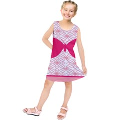 Butterfly Animals Pink Plaid Triangle Circle Flower Kids  Tunic Dress by Alisyart