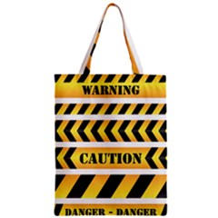 Caution Road Sign Warning Cross Danger Yellow Chevron Line Black Classic Tote Bag by Alisyart