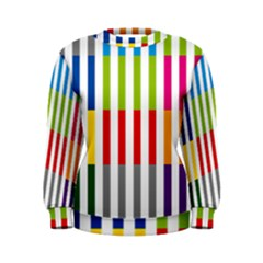 Color Bars Rainbow Green Blue Grey Red Pink Orange Yellow White Line Vertical Women s Sweatshirt