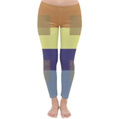 Color Therey Orange Yellow Purple Blue Classic Winter Leggings