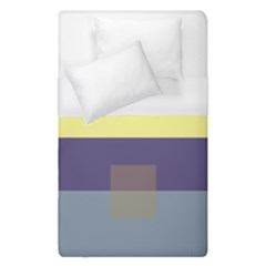 Color Therey Orange Yellow Purple Blue Duvet Cover (single Size) by Alisyart
