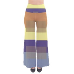 Color Therey Orange Yellow Purple Blue Pants by Alisyart