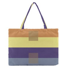 Color Therey Orange Yellow Purple Blue Medium Zipper Tote Bag by Alisyart