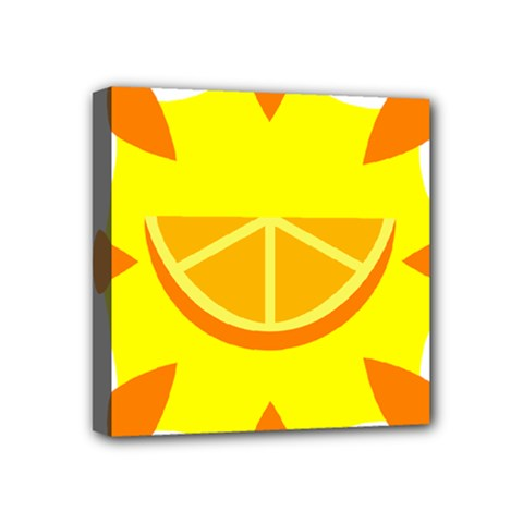 Citrus Cutie Request Orange Limes Yellow Mini Canvas 4  X 4  by Alisyart