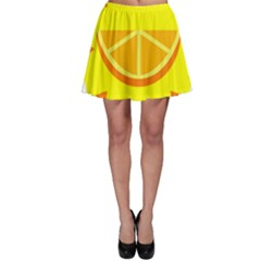 Citrus Cutie Request Orange Limes Yellow Skater Skirt by Alisyart