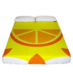 Citrus Cutie Request Orange Limes Yellow Fitted Sheet (queen Size)