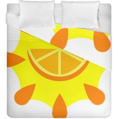 Citrus Cutie Request Orange Limes Yellow Duvet Cover Double Side (king Size) by Alisyart