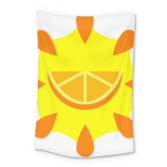 Citrus Cutie Request Orange Limes Yellow Small Tapestry by Alisyart