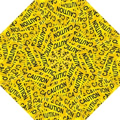Caution Road Sign Cross Yellow Folding Umbrellas by Alisyart