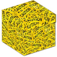 Caution Road Sign Cross Yellow Storage Stool 12   by Alisyart