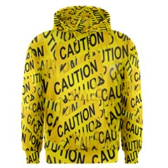 Caution Road Sign Cross Yellow Men s Pullover Hoodie by Alisyart